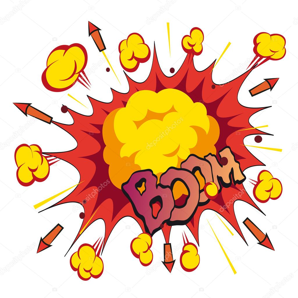 boom comic book explosion vector illustration stock vector rh depositphotos com explosion vectoriel explosion vector art