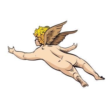 Cupid. Angel, vector illustration