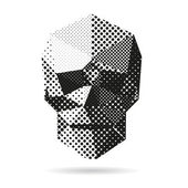 Lebka abstraktní izolovaných na bílém pozadí