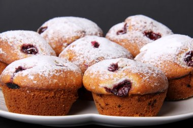 Cherry Muffins Served