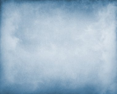 Fog and clouds on a blue paper background. Image displays a pleasing paper grain and texture stock vector