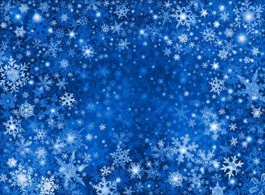 Blue Snow Storm Background