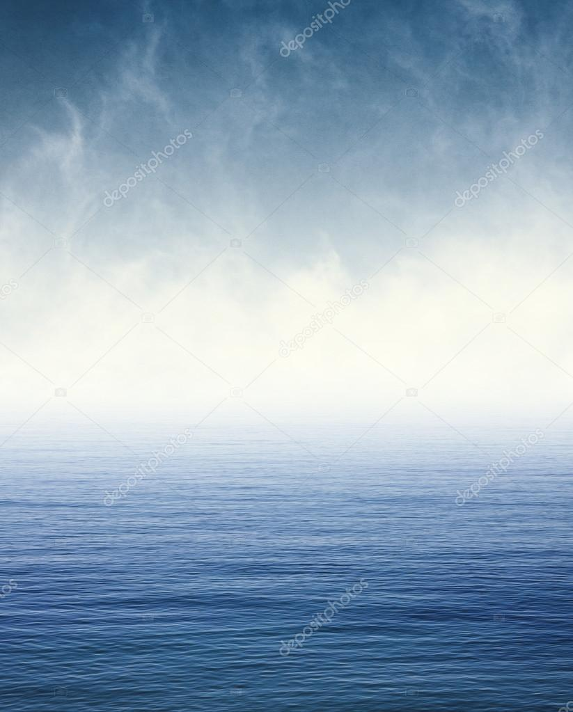 Fog on Blue Ocean