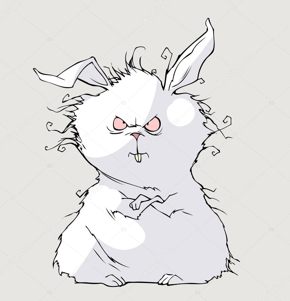 evil cartoon bunny - 987×1023