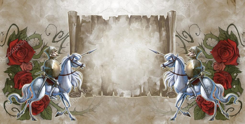 всем открытка рыцарь на белом коне с букетом раз своих рассказах