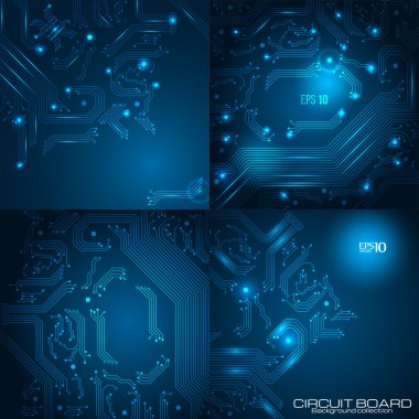 Set of technology backgrounds.