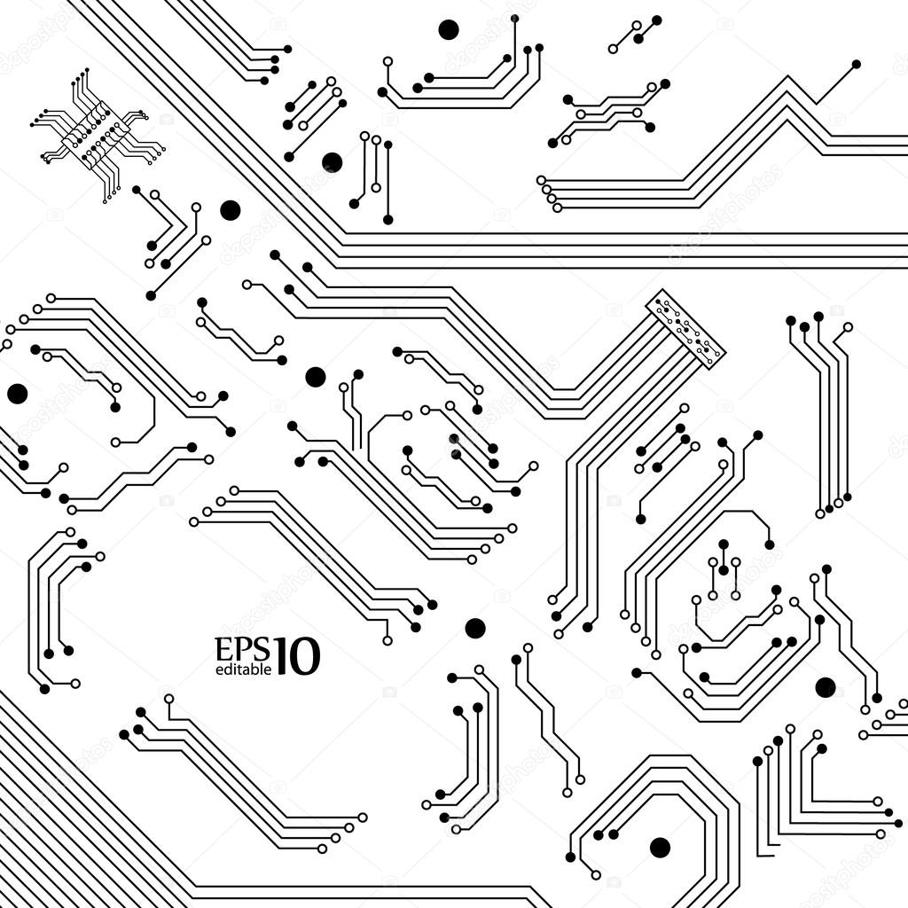 digital background from electric circuit   u2014 stock vector