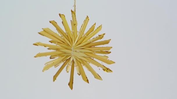 vločkové vánoční ozdoba ze slámy fullhd 1080 p