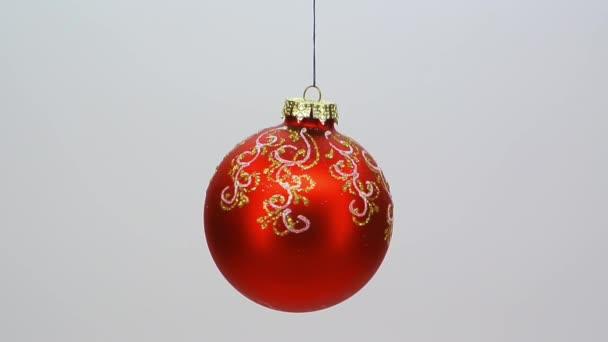 červené sklo vánoční ozdoba vzorkem stříbrných a zlatých fullhd 1080 p