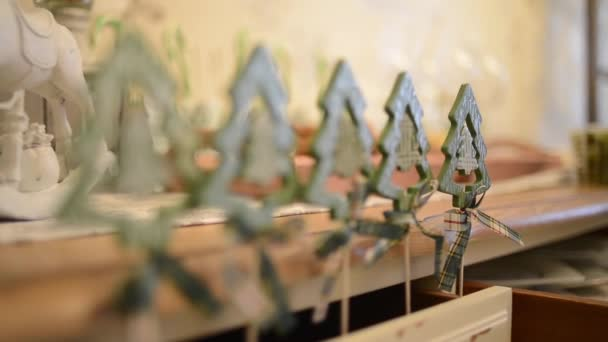 Wooden christmas tree ornaments 1080p