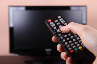 Turning on tv with remote control