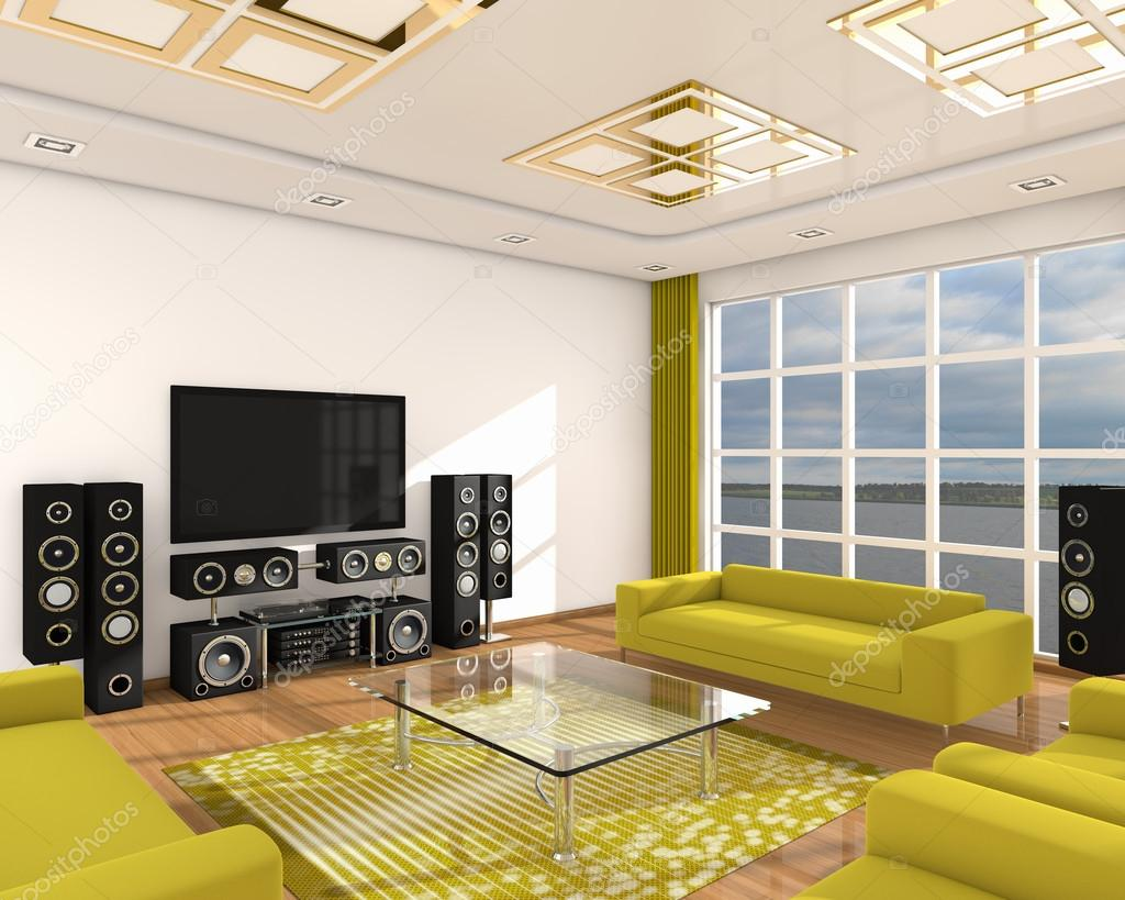 Einrichtung der modernen Zimmer 3d — Stockfoto © alexandr55 #35355605