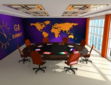 Interior of the room for summit G8