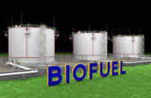Photo Large white tanks for biofuel
