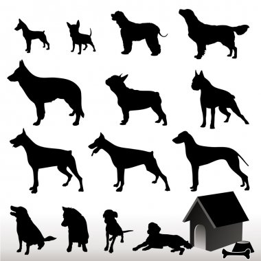Dog Silhouettes - Vector.