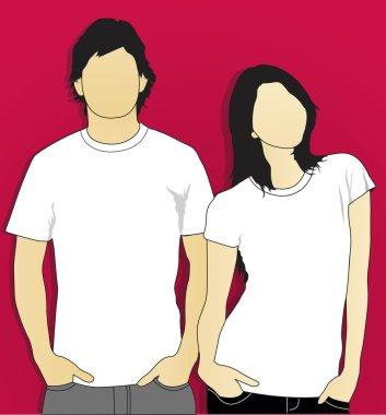 Model t-shirt man and woman 3