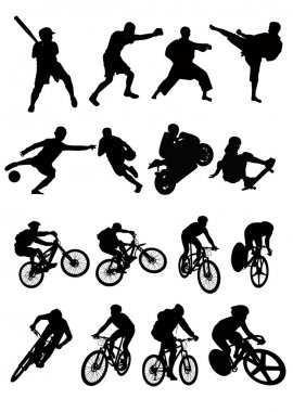 Silhouette of sport