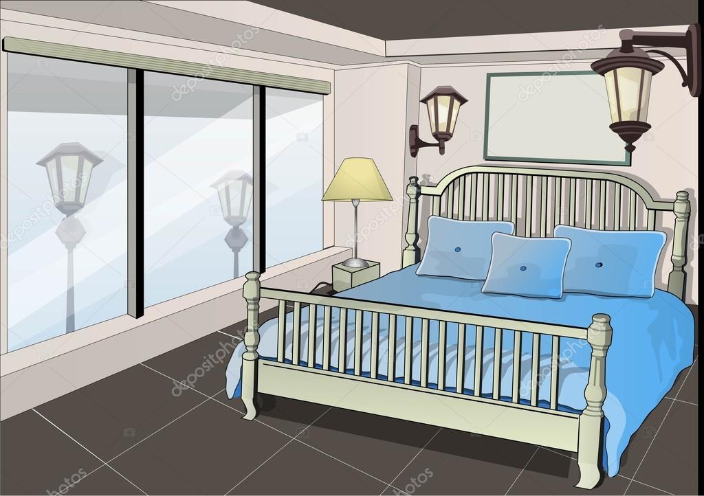 Mia camera da letto — Vettoriali Stock © archam #20425761