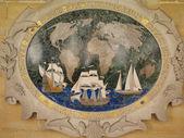 Emléktábla-avatás tengerészek