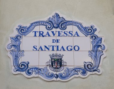 Ceramic steet sign in Portuguese town