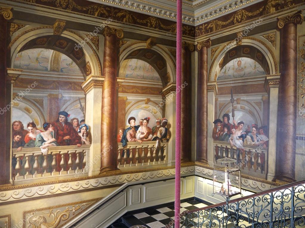Treppe innen Kensington Palace, london — Redaktionelles