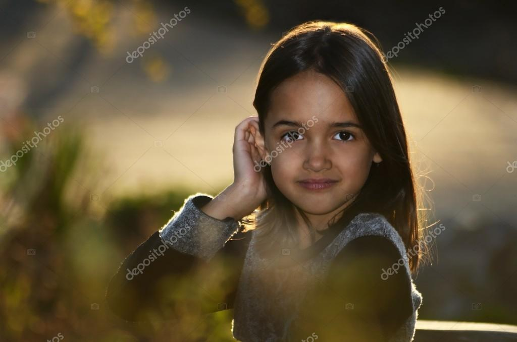 Sweet innocent young girl face the
