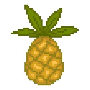 Illustration pixel pineapple