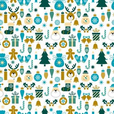 Seamless pattern with Christmas symbols
