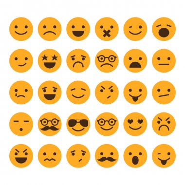 Set of different smileys vector