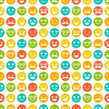 Seamless pattern with color smileys
