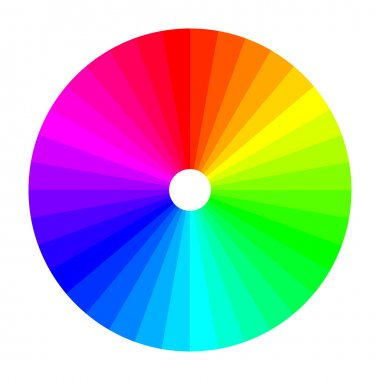Color wheel with shade of colors, color spectrum