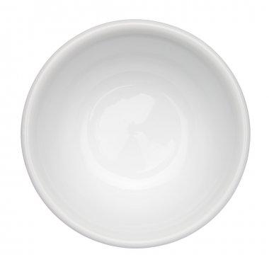 """Картина, постер, плакат, фотообои """"пустой чистой чаши, изолированные на белом фоне, вид сверху"""", артикул 18138983"""