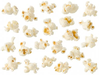 Popcorn isolated on white background stock vector