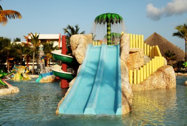 Kids water park with water slides in Dominican Republic, Punta C