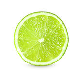 Fotografie Slice of fresh lime on white background
