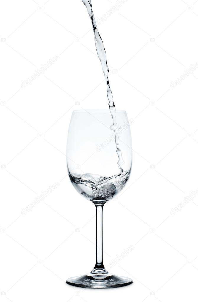 Pouring Water Into Wine Glass Stock Photo C Makeitdouble