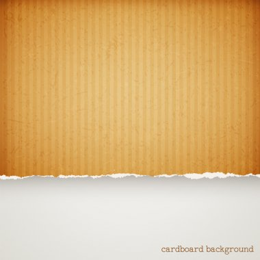 Cardboard paper frame with torn edges clip art vector