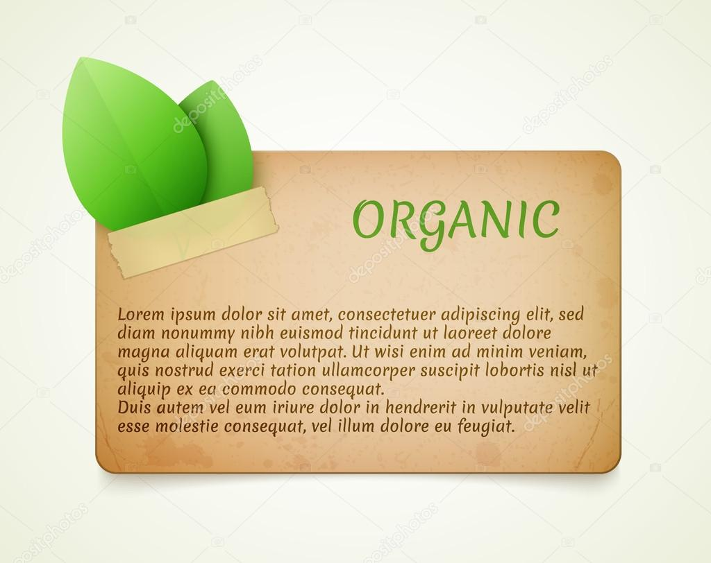 Eco friendly paper template banner