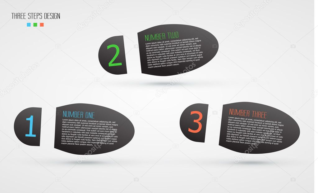 vector background with infographic steps