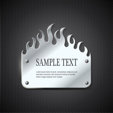 fire metal sign