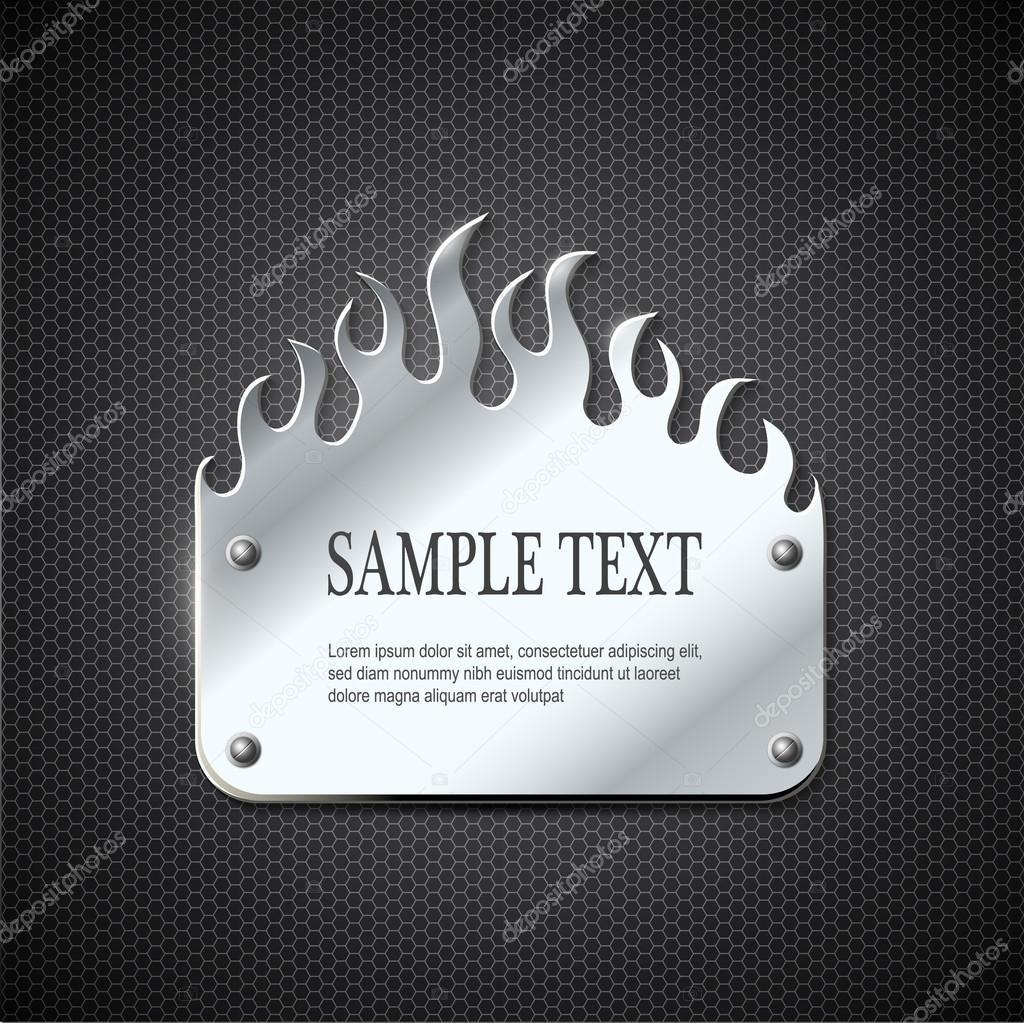 Fire metal sign