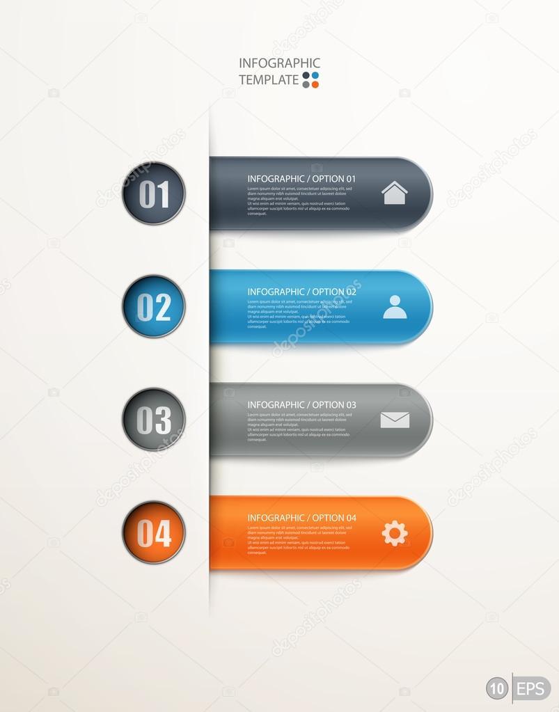 Infographics options banner design