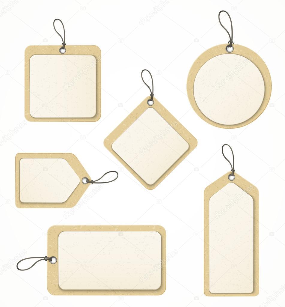 Set of paper labels