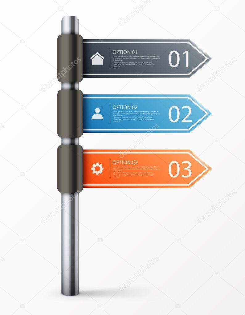 señal de tráfico moderno diseño plantilla para infografía — Vector ...