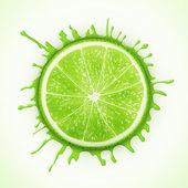 frische Limette mit Spritzer