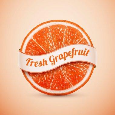fresh grapefruit with ribbon