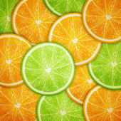 Orange and lime fruit slices background