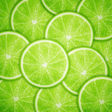 Lime fruit slices background