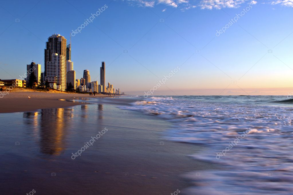 Sunrise at the beach in Gold Coast, Australia