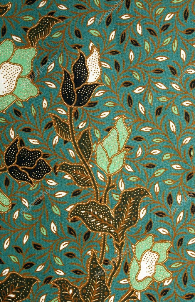 stoff mit blumen batik muster stockfoto - Batiken Muster